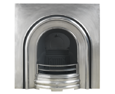Plain Arched Cast-iron Fireplace Insert Full Polish